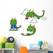 Kawaii Little Dragons Wall Stickers Wallmonkeys Com