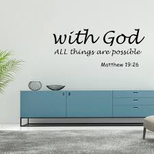 Mgaxyff Wall Decor Wall Art Stickers Removable Modern Letters Proverbs Bible Verse Wall Art Stickers Wall Decal Home Decor Walmart Com Walmart Com
