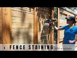 Staining A Fence With A Sprayer Youtube