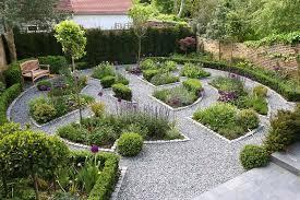 moden backyard flower garden layout