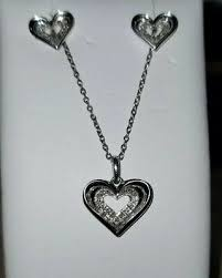 heart sterling silver pendant necklace