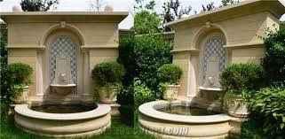 beige marble garden sculptured water