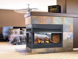 modern ventless gas fireplace with