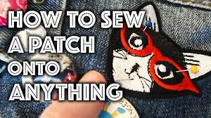 How To Sew A Patch Onto Anything Sew Anastasia Youtube