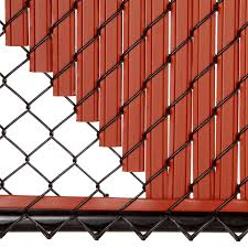 Maximum Privacy Redwood Solitube Slats For 4ft Chain Link Fence Walmart Com Walmart Com