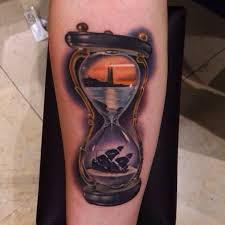 hourglass tattoo symbolic meanings of