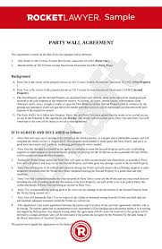 Party Wall Agreement Uk Template Make Yours For Free