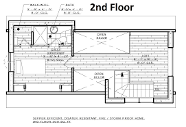 beach house plan with 2 bedrooms and 2