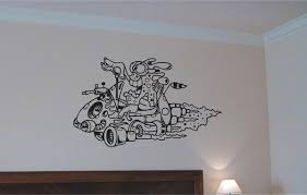 Alien Wall Decal Space Ship Wall Mural Vinyl Stickers