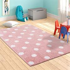 Amazon Com Livebox Polka Dots Area Rugs 3 X 5 Kids Play Mat Soft Plush Baby Crawling Mat Non Slip Throw Carpet For Teen Girl Living Room Bedroom Playroom Nursery Decor Best Shower Gift Pink