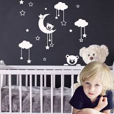 Moon Bear Vinyl Sticker Wall Decals For Kids Room Decoration For Baby Rooms Ebay