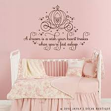 Amazon Com Cinderella A Dream Is A Wish Your Heart Makes Wall Decal Sticker Carriage Handmade