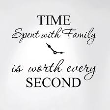 Innovative Stencils Time Spent With Family Is Worth Every Second Home Wall Decal Sticker Clock 20 Wide X 17 High 1249 Walmart Com Walmart Com