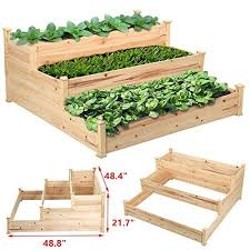 elevated raised garden beds blue