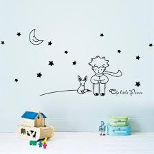 Shop Fairy Tale The Little Prince Wall Sticker 3d Fox Moon Star Home Decor For Kids Rooms Baby Child Birthday Gift Toy Online From Best Wall Stickers Murals On Jd Com Global
