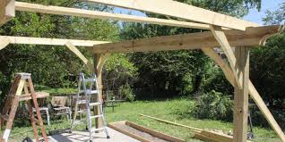 how to build a pergola in two days on a