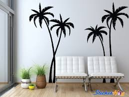 Tropical Palm Trees Silhouette Wall Decals Graphic Vinyl Sticker Bedroom Living Room Wall Home Decor