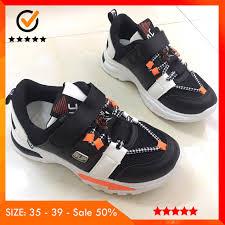 Sale 50%] Giày Thể Thao Bé Trai Từ 8 Tuổi Siêu Đẹp Màu Đen Trắng Cam Có  Quai Dán Style Hàn Quốc Thời Trang mùa đông, Giá tháng 11/2020