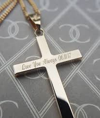 white gold cross pendant necklace