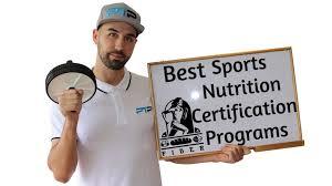 sports nutrition certification programs