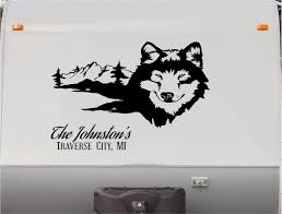Amazon Com Wolf Wolve Custom Sign Rv Camper Trailer Camping Decal Sticker Graphic Mural Kitchen Dining