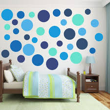 Multi Size Blue Polka Dot Wall Decal Pack Wall Decal World