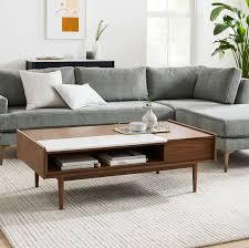 mid century double pop up coffee table