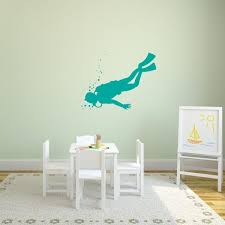 Scuba Diver Wall Decal Sport Wall Decals Wall Decal World
