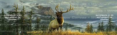 High Mountain Elk Rear Window Graphic Custom Vinyl Graphics