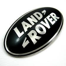rear emblem black land rover oval