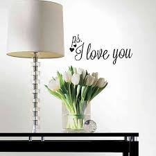 P S I Love You Heart Peel And Stick Wall Decals Bed Bath Beyond