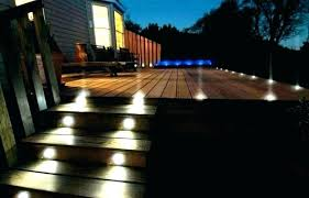 lighting ideas deck solar flush mount