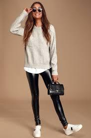 vegan leather leggings black leggings