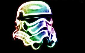 neon stormtrooper helmet star wars