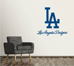 Los Angeles Dodgers Wall Decal Logo Baseball Mlb Sticker Vinyl Large Sr59 Ebay