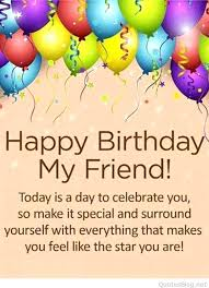 happy happy birthday my dear friend quote hd