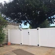 Weatherables Pembroke 7 Ft W X 6 Ft H White Vinyl Privacy Double Fence Gate Kit Dwpr T G11 3 6x42 5 The Home In 2020 Vinyl Privacy Fence Privacy Fences Fence Gate