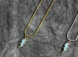 charm necklace lightning bolt