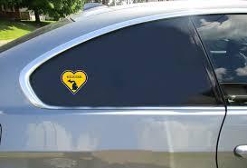 Michigan State Heart Shaped Sticker U S Custom Stickers