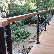 Tension Cable Fencing Images Google Search Stainless Steel Cable Modern Fence Design Stainless Steel Railing