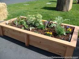 pallet raised garden beds pallet wood