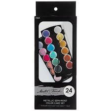 metallic semi moist watercolor paints