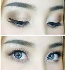 cara makeup natural bagian mata