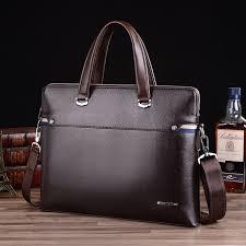 leather attache case men briefcase male