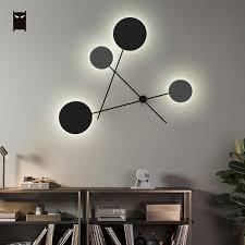 led iron metal round wall lamp fixure