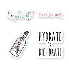 Amazon Com Water Bottle Sticker Pack 3 Vinyl Stickers Handmade