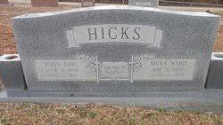 Myra Ward Hicks (1902-1990) - Find A Grave Memorial