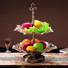 crystal glass fruit bowl coffee table