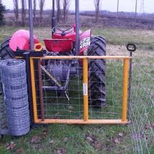 Quickfencer New Concept For The Unrolling And Tensioning Of Wire Fencing Farm Projects Farm Fence Tractor Attachments