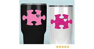 Amazon Com Autism Puzzle Piece Tumbler Decal Awareness Heart Sticker For Yeti Cup Your Choice Of Size And Color Handmade